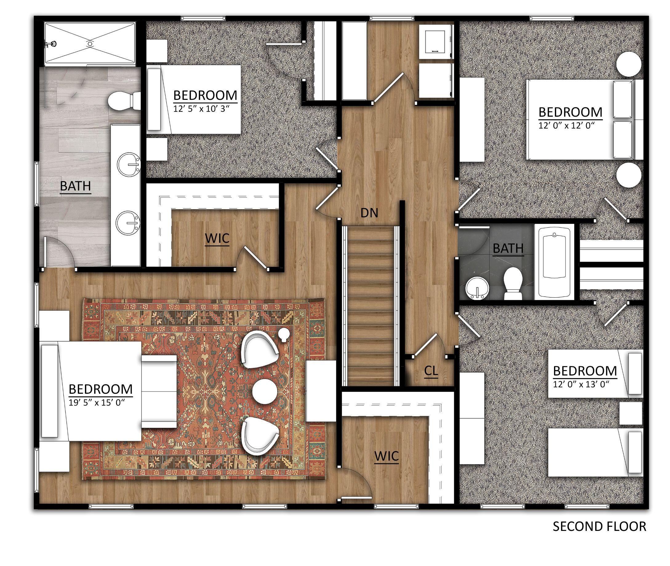 new floor plan second floor